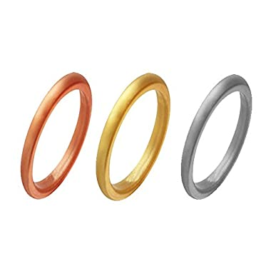 kingfishertrade-ltd 3 Pack Silicone Rings For Women/Girls,Fit for Sport,Fitness,Training,Size 4-8 (3pcs(RoseGold,Gold,Silver), 4)