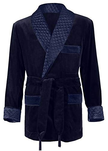 Men's Navy Smoking Jacket Medium