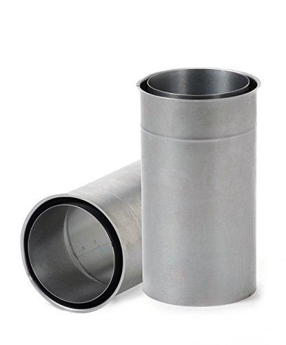 FIREFIX R150/WDV Wandfutter, doppelt, passend für 2 mm Starke Ofenrohre/Rauchrohre in 150 mm Durchmesser, verlängert, für Kaminöfen und Feuerstellen, Unlackiert