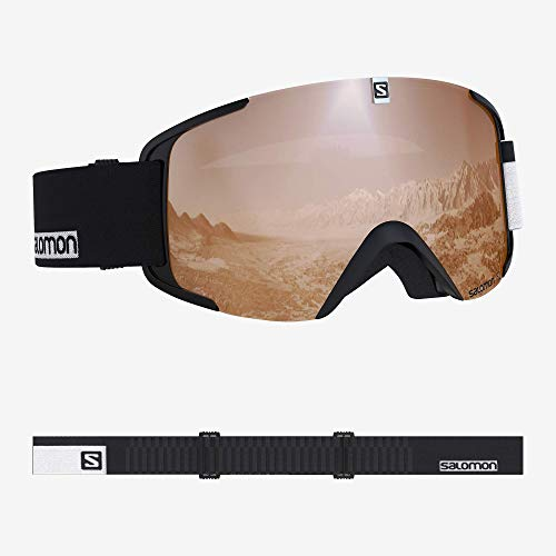 Salomon, Xview Access, Unisex-Skibrille, Schwarz-Weiß/Universal Tonic Orange, L40518600