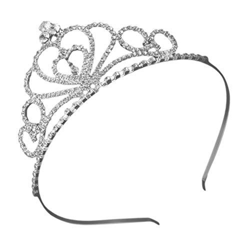 Lurrose Corona Nupcial Rhinestone Boda Tiara Crown Crystal Wedding Headwear Boda Tocado...
