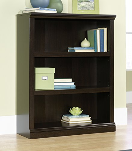 Sauder Select Collection 3-Shelf Bookcase, Jamocha Wood finish