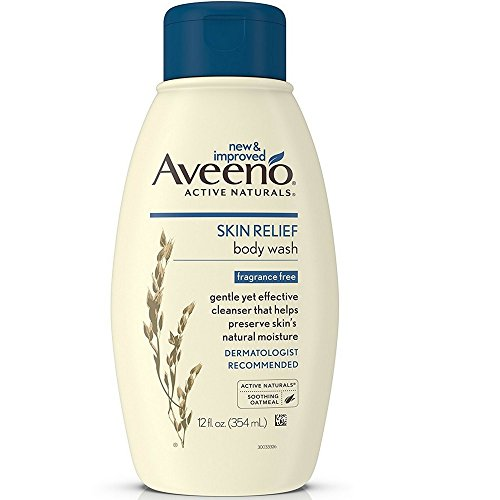 Aveeno Active Naturals Skin Relief Body Wash, Fragrance Free, 12 Ounce (Pack of 3)