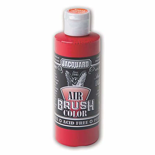 Sneaker Series Airbrush Color by Jacquard, Artist-grade Fluid Acrylic Paint, Use on Multiple Surfaces, 4 Fluid Ounces, Fire Red