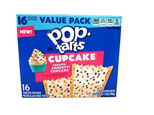 Pop Tarts Cupcake flavor 16 count. Frosted Confetti. 27 oz.