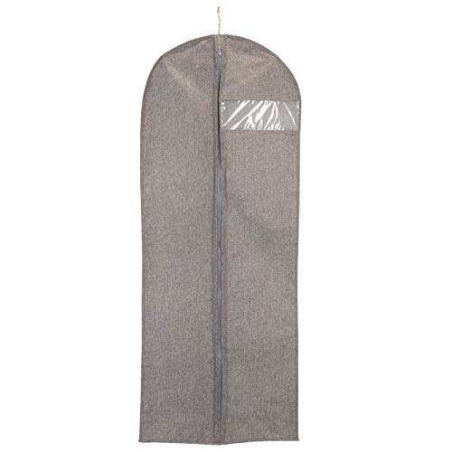 Clas Ohlson  Garment Bag with Zip, Linen Look Storage Clothes Bag with Clear Window, Dress Bag (60x150 cm)