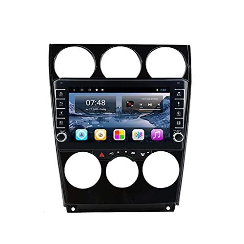 GOHHK Más Nuevo Android 10.0 Radio De Automóvil Multimedia Player para Mazda 6 2005-2015 Carplay Am GPS Navegación Bluetooth GPS Serero No 2 DIN(Size:Ocho núcleos,Color:WiFi:1GB+16GB)