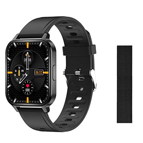 ZYDZ 2021 Q18 SmartWatch Music Hombres de 1.7 Pulgadas Touch Fitness Fitness Tracker Reloj de presión Arterial Ladies PK PO P8 Smart Watch para Android iOS,A