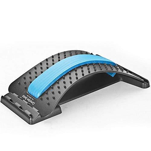 Dyna-Living Back Stretcher Rücken Strecker Wirbelsäulenstrecker Rückendehner Rückenstrecker Entspannung Rückenmassage Gerät (Schwarz)