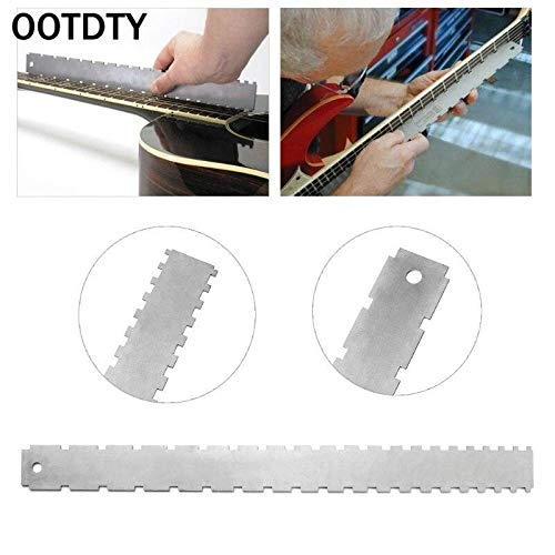Generic OOTDTY Guitar Neck Notched Straight Edge Luthiers Tool for Most Electric Guitars Frets