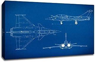 """ArtsyCanvas Sport Motorcycle Gearhead Blueprint Art (36x24 Canvas), 36"""" x 24"""""""