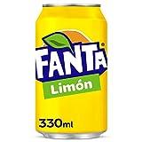 Fanta Limón - Refresco con 6 % de zumo de limón, bajo en calorías - Lata de 330 ml