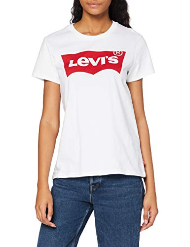 Levi's The Perfect Tee, Camiseta para Mujer, Blanco (Batwing