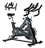 PYHIGHIndoor Cycling Bike Stationary Bicycle ExerciseBike, LCD Monitor with iPad Holder, Comfortable Seat Cushion, Multi - grips Handlebar for Home Workout
