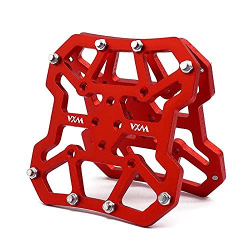 Mountain Road Bike Pedal Lock Step Platform Adapters Pedal ligero sin clip para shimano SPD plataforma Adaptadores Piezas de bicicleta (rojo)