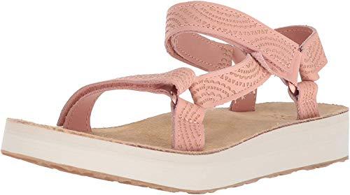 Teva Women's Midform Universal Geometric Sandal, Tropical Peach, Size 9.0
