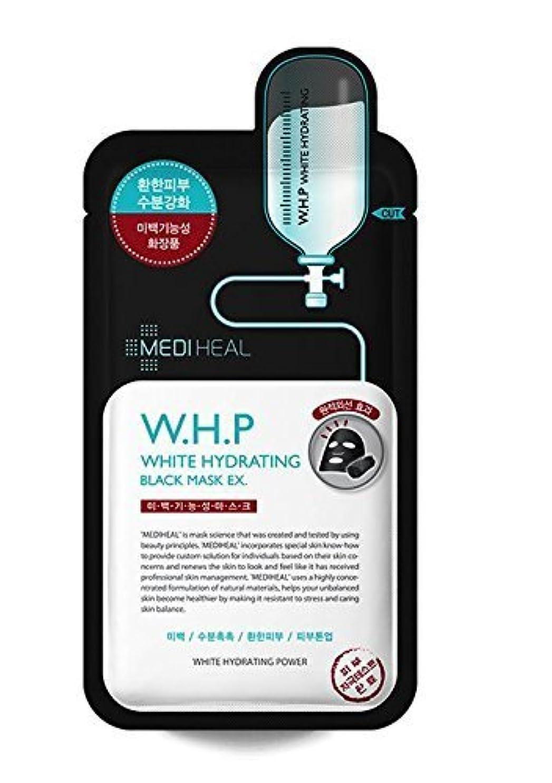 馬力害祝うMediheal 10の、w.h.p白水和ブラックマスクEX、25ミリリットル、パック [並行輸入品]