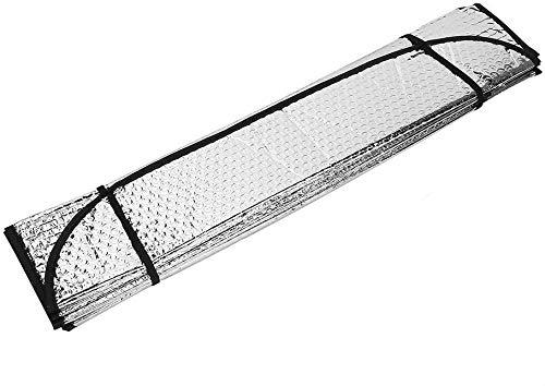 Parasol Coche Delantero Plegable Protector Solar de Luna Delantera Parasol Coche para Luna Delantera Universal con 2 Ventosas 2 Correas (60 * 130CM)