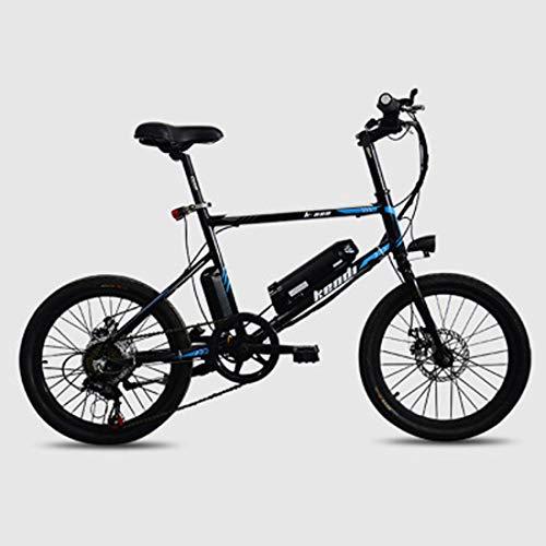 Jun Bicicleta De Ciudad Eléctrica Plegable De Aleación Ligera De 20 Pulgadas, (Batería Desmontable De 36V-250W) Bicicleta De Ciudad para Adultos De Diámetro De Rueda Pequeña,Negro