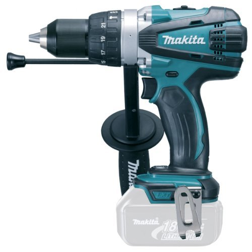 Makita DHP458Z 18V LXT 2 Speed Combi Drill (Body Only), 18 V, Blue