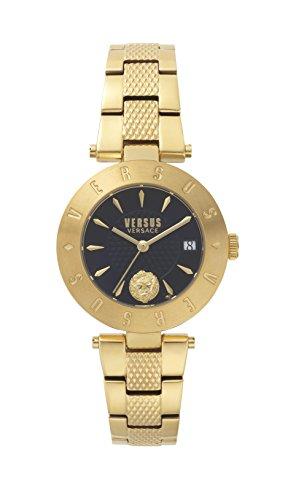 Versus by Versace Damen Analog Quarz Uhr mit Edelstahl Armband VSP772718