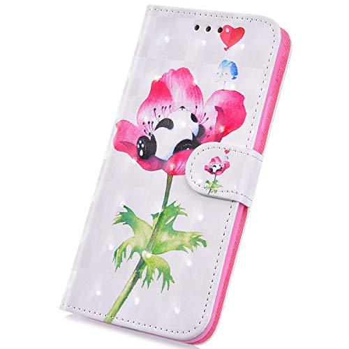 Surakey - Funda piel tapa iPhone 6 Plus/6S Plus, Panda