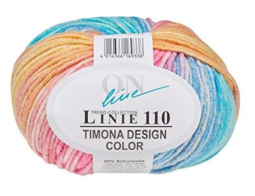 Online Wolle Trend-Collection Linie 110 Timona Design Color 50g Garn 60% Schurwolle Strickgarn Häckelgarn Farbe 302