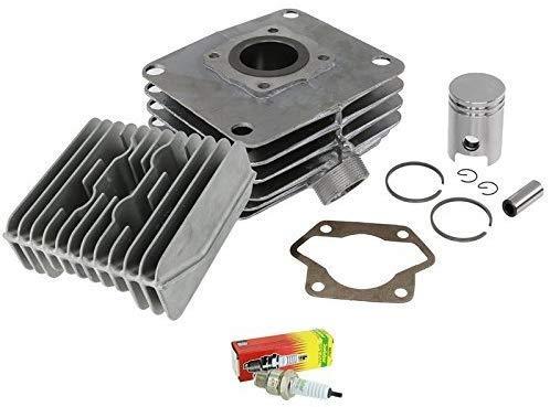 BISOMO SET: 60 ccm Zylinder + Kolben Ø 41,00 mm + Kopf + Fußdichtung + Zündkerze M14 260 - für Simson S51, KR51/2 Schwalbe, SR50