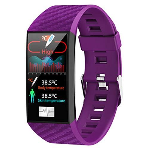 YXJ DT58 Smart Watch Sport Fitness Pulsera Pulsera Tracker Pedómetro ECG Ritmo Cardíaco Monitor De Presión Arterial Pulsera,D