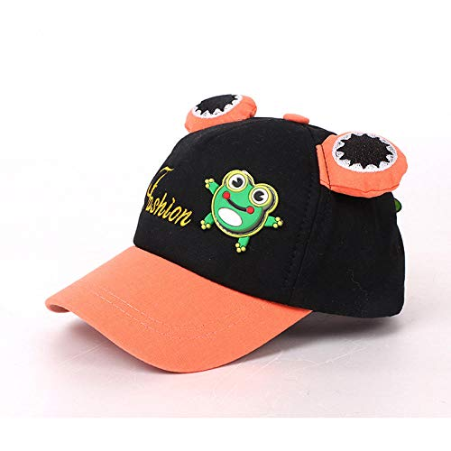YDXC Caps Children Baseball Cap Spring Hiphop Cartoon Frog Summer Kid Hats Boy Girl Caps Snapback Hat Child Apply To Running Travel Fishing Etc-Black_2_To_6_Years_Old