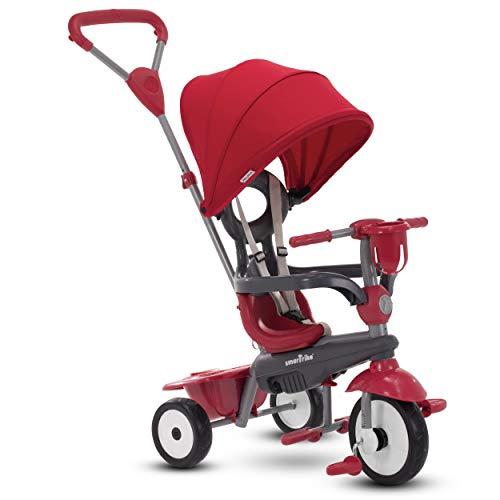 smarTrike Breeze Plus Tricycle 4 en 1 pour enfants de 1, 2 et 3 ans Rouge