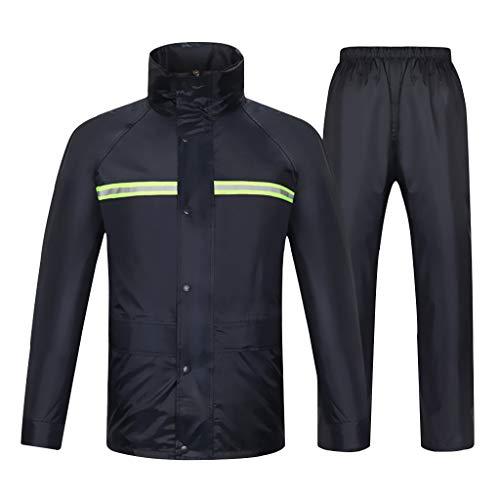 GLLL-raincoat Fluorescente Verde Advertencia De Seguridad Impermeable Reflectante Pantalones De Lluvia Traje Hombres Y Mujeres Split Impermeable Respirable Motocicleta De Conducción (Size : L)