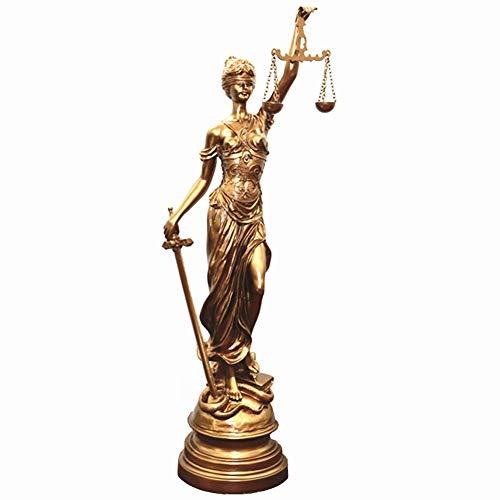 Mnjin Decoracin del hogar Estatua de la Diosa Romana, Justicia Justicia Diosa Themis Estatua Estatua Escritorio Escritorio Decoracin Regalo, 34.5cm