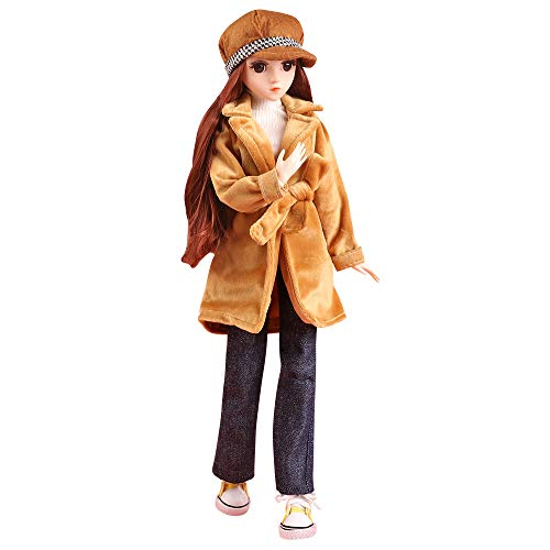 UCanaan BJD Dolls 1/4 SD Doll 18 Inch 18 Ball Jointed Doll DIY Toys with Full Set Clothes Shoes Wig Makeup, Best Gift for Girls