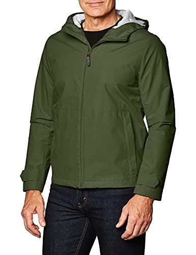Dockers Chaqueta Cortavientos con Capucha Mason All Terrain para Hombre, Verde ejército, XX-Large