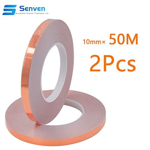 Senven Cinta Adhesiva primera calidad cobre - Conductor - (50m × 10 mm) × 2 -...