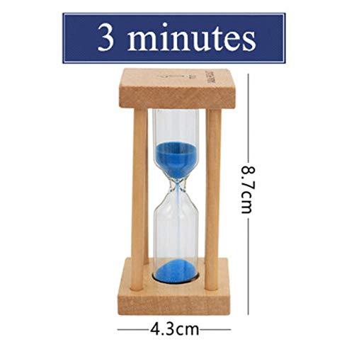 MDHANBK Reloj de Arena, Reloj de Arena de Madera de 1/3/5 Minutos, Juguete de decoración del Temporizador del hogar