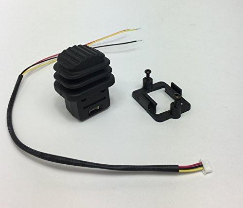 Ruffy Controls Single Axis Hall Effect Joystick Thumb Controller, Wheel Style, IP67 Sealed, 0.5-4.5V
