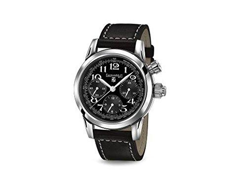 Eberhard Tazio Nuvolari Vanderbilt Naked Automatik Uhr, ETA 7750, 42mm, Schwarz
