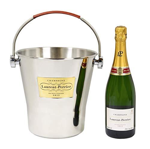 Champagnerkühler mit Ledergriff (6 Flaschen) - Champagne Laurent Perrier