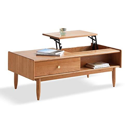 Z-GJM alle massief hout tillen salontafel kersenhout salontafel eenvoudige salontafel kleine appartement woonkamer salontafel de slanke ronde ontwerp helpt om de perfecte combinatie te bereiken A