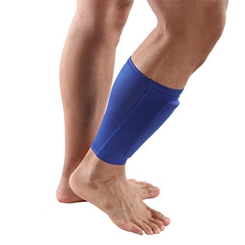 CZ-XING Espinilleras de fútbol – Tipo universal utilizado en deportes de fútbol – Tabla de leggings fijos para pies protectores y espinilleras (azul, niño)