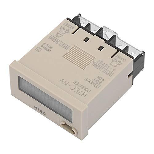 DC 3-36 V H7EC-NV LED-Digitalzähler 8-stelliges LCD-Display 0-99999999 Zählbereich Digitaler elektrischer Zähler mit Zählerhalter