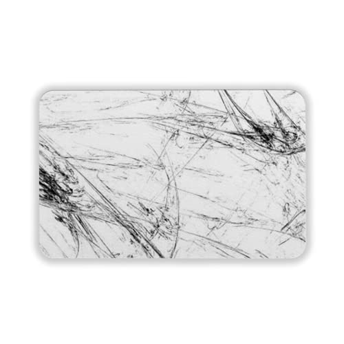 Tapete para piso, tapetes de bienvenida de caucho natural duradero ,abstract grunge dirty black background on white backdrop grime pattern texture,Alfombra para interiores y exteriores 15 by 24 inches