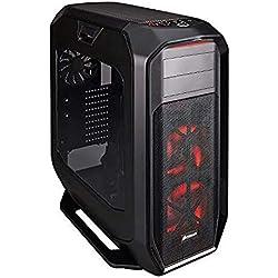 Corsair Graphite 780T Case da Gaming, Full-Tower ATX, Finestra Laterale con Due AF140 Rosso LED Ventole,Con finestra, 780T,Nero