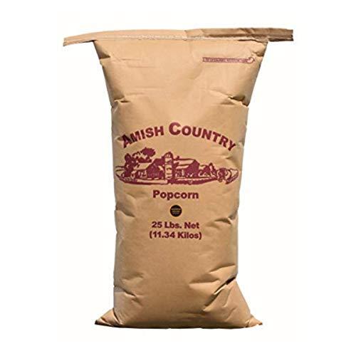Amish Country Popcorn | 25 lb Bag | Medium Yellow Popcorn Kernels | Old Fashioned with Recipe Guide (Medium Yellow - 25 lb Bag)
