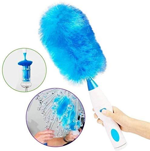 GYYlucky Elektrospin Duster 360 graden van plumeau Super sterke absorptie geen dode hoek Eenvoudig te gebruiken accessoires voor reiniging (blauw)
