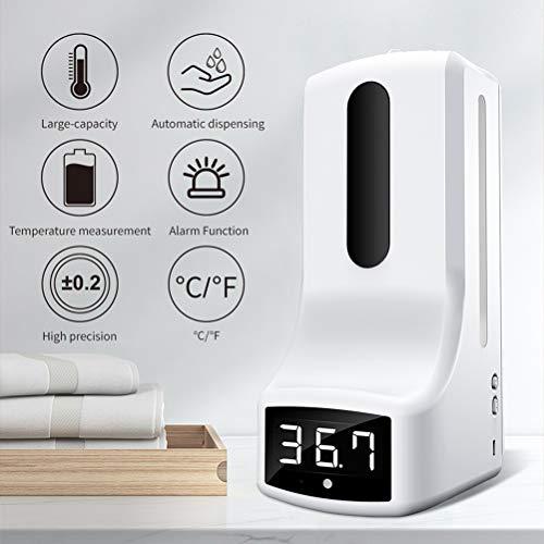 WWJJLL Wand- Infrarot-Temperaturmess, automatische Induktion, No-Wash Seifenspender, Nicht Kontakt Hochtemperaturalarm, Hotel Badezimmer Hand Sanitizer