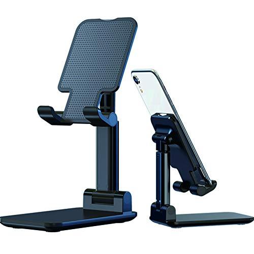 Soporte plegable para teléfono móvil, ajustable, plegable, apto para todos los teléfonos móviles, iPad, tableta, teléfono, portátil, escritorio, tablet, teléfono, color negro