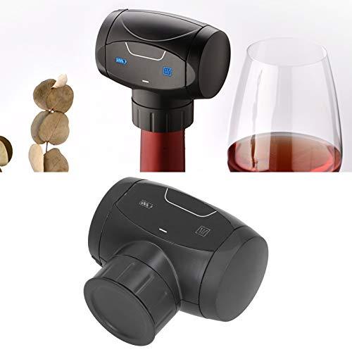 Gatuxe Tapón de Vino, Conservador de Vino Profesional, Suministro de Barra, Regalo para Amigos o Amantes del Vino, automático para el hogar, Negro